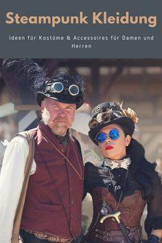 Geprägt von der Mode des viktorianischen Zeitalters ist die Steampunk Kleidung zu einer beliebten Idee für die Verkleidung zu Fasching, Halloween oder Mottopartys geworden. Was bedeutet genau Steampunk? Wie sehen die Kostüme für Damen und Herren aus? Kann man ein Steampunk Kostüm selber machen und welche Accessoires passen zu diesem Stil? Die Antworten finden Sie bei uns!