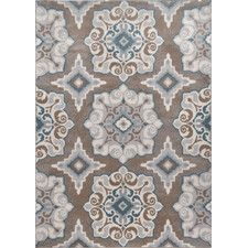 Natural Taupe and Turquoise Area Rug