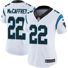 Nike Carolina Panthers Women s  22 Christian McCaffrey Limited White Road  Vapor Untouchable NFL Jersey Troy ae7253012