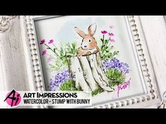 How to watercolor a bunny stamp from Art Impressions. Watercolor Video, Watercolour Tutorials, Watercolor Cards, Watercolor Paintings, Watercolors, Water Color Markers, Art Impressions Stamps, Colouring Techniques, Craft Fairs