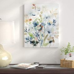 Winston Porter 'Holland Spring Mix I' - Wrapped Canvas Painting Print Size: H x W Painting Frames, Painting Prints, Painting Art, Art Print, Painting Portraits, Spring Painting, Abstract Paintings, Art Paintings, Art Sur Toile