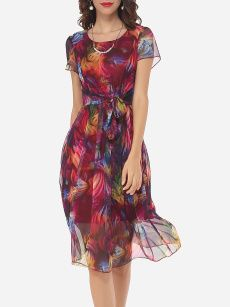 Bowknot Round Neck Gauze Printed Skater Dress is hot sale on ByChicStyle, come to ByChicStyle to see more trendy Skater Dresses online. Trendy Dresses, Elegant Dresses, Sexy Dresses, Cute Dresses, Beautiful Dresses, Casual Dresses, Fashion Dresses, Summer Dresses, Ladies Dresses