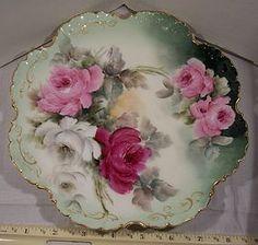Antique hand painted porcelain plate