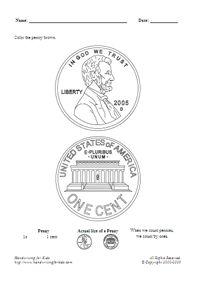 Coin Names Worksheet