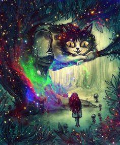 Alice in Wonderland Caterpillar Pot   cat trippy Glitter drugs weed smoke lsd acid space Alice In Wonderland ...