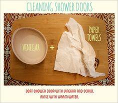 Shower door cleaner hack