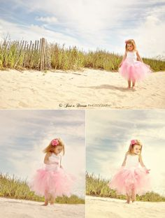 Children Beach photography #pink #tutu #sanddune