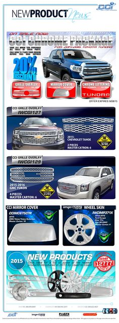 CCI CHROME PACKAGE ON SALE NOW!! Call now at before this deal is expires! Tampa, FL 800-999-8987 Huntington, IN 800-943-3577 Stockton, CA 800-622-4827