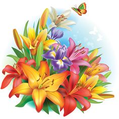 Beautiful lilies art background design 04