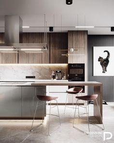 home interior design Best Home Interior Design, Industrial Interior Design, Kitchen Design Trends, Contemporary Interior, Home Decor Kitchen, Kitchen Interior, Interior Design Kitchen, Modern Kitchen Design, Luxury Interior Design