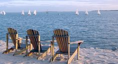 Charleston Harbor Resort & Marina in Mount Pleasant, SC. Chairs for daydreaming on the private sands!
