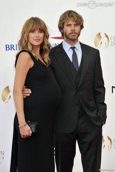 Eric Christian Olsen et sa femme Sarah Wright, enceinte, lors de la cérémonie d'ouverture du 53e festival de Monte-Carlo au Forum Grimaldi à Monaco, le 9 juin 2013.