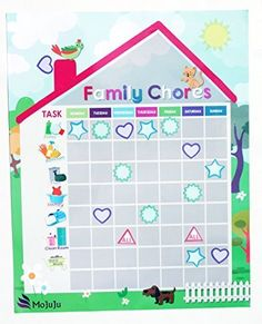 Weekly Chore chart for kids teens and family. Magnetic calendar with reusable icon stickers and write on pieces for metal surfaces in your home office, kitchen, or bedroom. Planning made simple! MoJuJu http://www.amazon.com/dp/B012POBANO/ref=cm_sw_r_pi_dp_n9EVwb05RXKSG