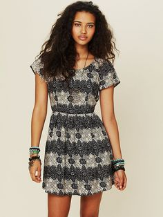 Free People Printed House Dress at Free People Clothing Boutique