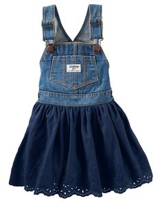 Toddler Girl Eyelet Jumper from OshKosh B'gosh. Shop clothing & accessories from a trusted name in kids, toddlers, and baby clothes.