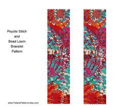 Bead Loom Weaving or Peyote Stitch Bracelet Pattern - PP81