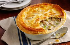 Nov: An historic recipe dating back to medieval Wales, Chicken and Leek Pie offers incredible, comforting flavors and simple luxury. This was elegant cuisine then and now. Welsh Recipes, Pie Recipes, Chicken Recipes, Cooking Recipes, Cooking Time, Cooking 101, Chicken Meals, Recipe Chicken, Entree Recipes