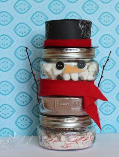 Hot cocoa snowman ...cute!