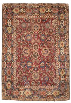 Isphahan rug, Central Persia approximately 7ft. 1in. by 5ft. (2.16 by 1.52m.) First Quarter 17th Century