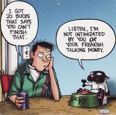 Talking Money - get-fuzzy Photo