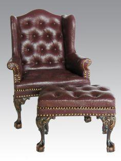 Leather Chair & Stool by John Hodgson. http://www.johnjhodgson.com
