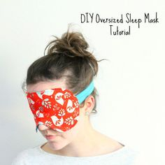 How to sew a sleep mask. This larger sized sleep mask pattern really makes sure no light gets in and is perfect for travel or daytime naps.
