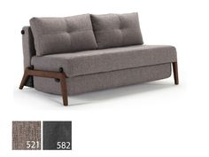 Cubed Convertible Sofa Bed in Full & Queen in Walnut Wood by Innovation Living
