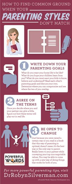 What to do if your parenting styles do not match! #GreatTips Click for more information at http://www.drrobynsilverman.com/