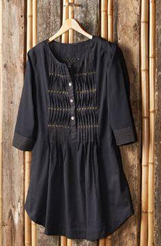 Asmita Tunic - Black ethically made by Artisans in India