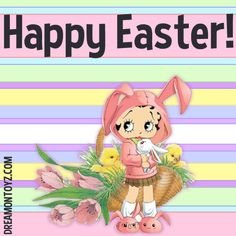 Happy Easter!  • More Betty Boop graphics & greetings ➡ http://bettybooppicturesarchive.blogspot.com/  And on Facebook https://www.facebook.com/bettybooppictures/ The adorable #BettyBoop that I used to create this greeting was created by JP Joke Peeman