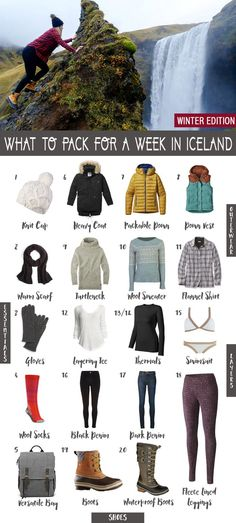The weather in Iceland can be pretty unpredictable and will change depending on the time of year you're visiting, so figuring out what to pack for a week in Iceland can be pretty daunting. Use my Iceland packing guide and revise as needed based on weather and season for when you plan your own trip to Iceland!