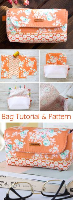 Stationary little bag, pouch or glasses case. DIY Tutorial   http://www.free-tutorial.net/2017/09/stationary-pouch-tutorial.html