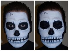 skeleton face paint men
