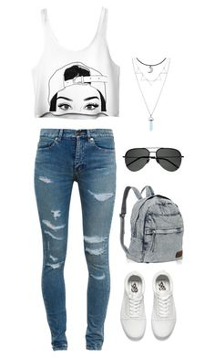 """""""Untitled"""" by agdancer10 ❤ liked on Polyvore featuring Yves Saint Laurent and Vans"""