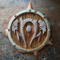 Orc Crest World of Warcraft Inspired Orcs Crest For The Medieval Shields, For The Horde, Shield Design, Wood Carving Tools, Carving Designs, Solid Pine, World Of Warcraft, Wood Design, Hand Carved