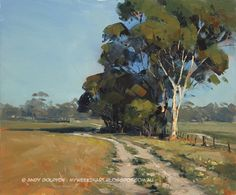Salmon Gum, Newdegate - plein air oil painting landscape Andy Dolphin