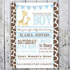 Giraffe Baby Shower Invitation Baby Sprinkle  por BigDayInvitations, $12.49