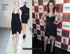 Kristen Stewart in Preen dress, Jimmy Choo shoes - Welcome to the Rileys LA Film Festival Premiere