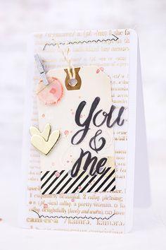 You and me I Cardmaking with #openbook from Maggie Holmes I Sandra Dietrich - mojosanti I #cardmaking I DT-Arbeit für die #scrapbookwerkstatt