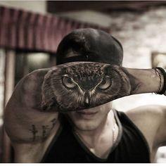 Great work from @stefanoalcantara #art #tattoos #tattoo #inkedmag #freshlyinked #inked #owl