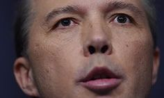 Peter Dutton at a media conference in Parliament House