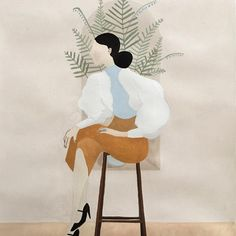 It's her love of nature, Italian Renaissance painters, and fashion trends that inspires artist Marialaura Fedi's captivating portraits. Her female figures are faceless yet full of bodily expression. Her choice of colors are muted, almost desert-like, yet each illustration exudes such charisma