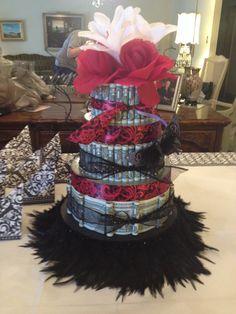 Money cake...$100 dollars for bridal shower.