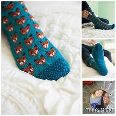Finn's Pick: Fun Knitted Fox Sox With a Terrific Two-Tone Sole