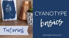 Cyanotype Basics- How to use Jacquard Cyanotype Sensitizer Set (DIY cyan... Cyanotype, Art Techniques, Being Used, Make Your Own, The Creator, Printing, Uni, Google Search, Youtube