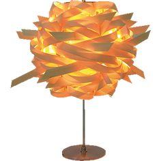 Warrige houten tafellamp met 1 lichtbron - table lamp in tulipwood