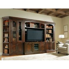 Shop for Hooker Furniture European Renaissance II Entertainment Console, and other Home Entertainment TV Stands at Carol House Furniture in Maryland Heights and Valley Park, MO. Entertainment Center Wall Unit, Entertainment Room, Hooker Furniture, Baroque Furniture, Rustic Furniture, Layout Design, Bookcase With Glass Doors, Muebles Living, Library Wall