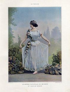 Cleo de Merode, colorize 1912