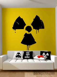 Dripping Radioactive Symbol Wall Decal Biohazard by BlazingVault