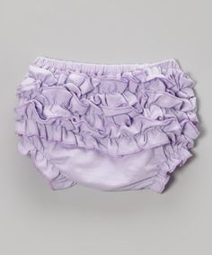 Lavender Ruffle Diaper Cover - Infant & Toddler by Tutu AND Lulu #zulily #zulilyfinds